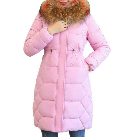 45529528964 plus Size Winter Jacket Women Thick Snow Wear Winter Coat - LIGHT PINK XL