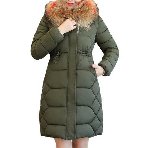 7f57e276f83 plus Size Winter Jacket Women Thick Snow Wear Winter Coat - ARMY GREEN 4XL