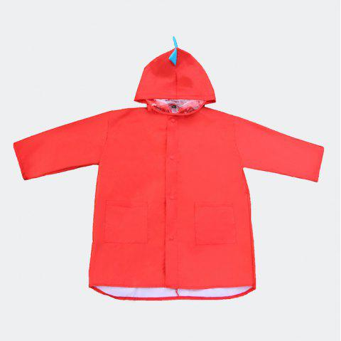 Cute Lightweight Dinosaur Waterproof Jacket Raincoat for Girls and Boys - RED M