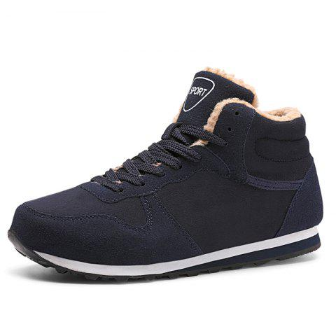 Winter Men'S Casual Shoes High Quality Durable High Shoes New Couple Warm Shoes - DARK SLATE BLUE EU 41