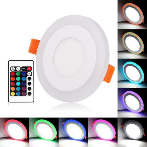 3W+3W Round LED Panel Light Embedded Downlight Indoor Ceiling Lights AC100-240V - multicolor A