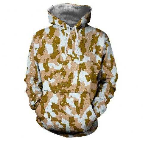 Men's New Sunset  3D Printing Hooded Sweater - multicolor G 3XL