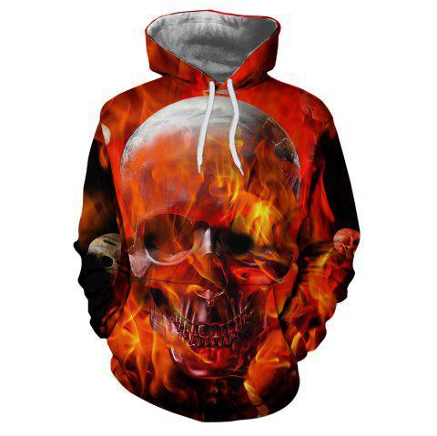 Men's New Sunset  3D Printing Hooded Sweater - multicolor Q XL