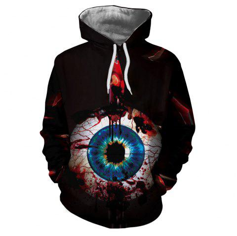Men's New Sunset  3D Printing Hooded Sweater - multicolor P L