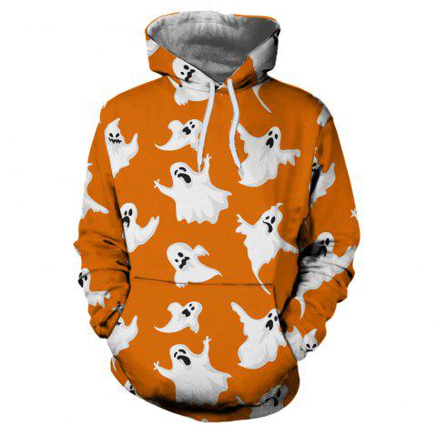 Men's New Sunset  3D Printing Hooded Sweater - multicolor S 3XL