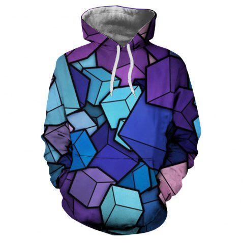 Men's New Sunset  3D Printing Hooded Sweater - multicolor K XL