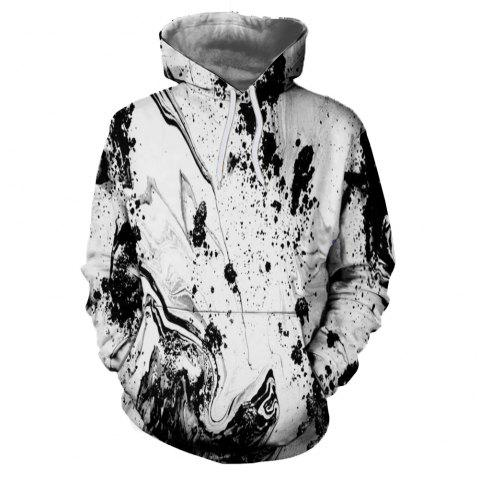Men's New Sunset  3D Printing Hooded Sweater - multicolor A M