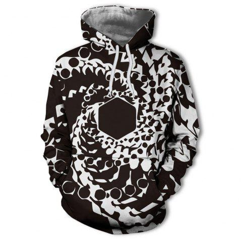 Men's New Sunset  3D Printing Hooded Sweater - multicolor W L