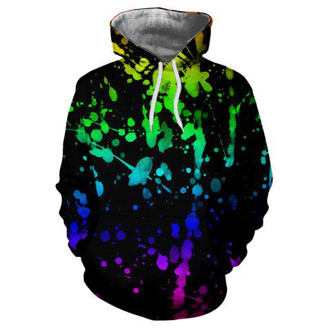 Men's New Sunset  3D Printing Hooded Sweater - multicolor M S