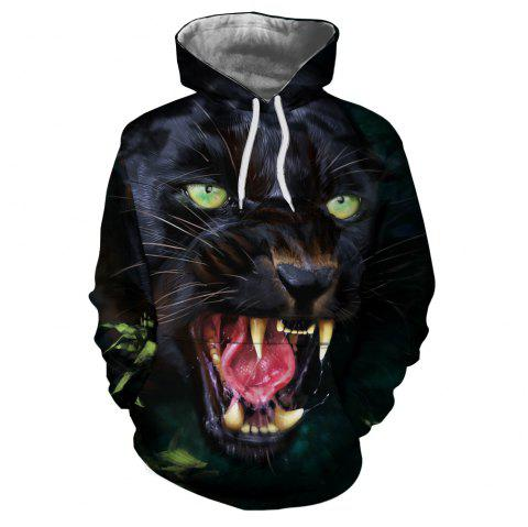 Men's New Sunset  3D Printing Hooded Sweater - multicolor H 2XL