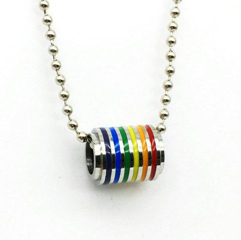 Stainless Steel Rainbow Pendant Gay Necklace - TRANSPARENT