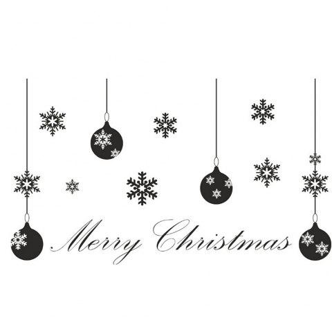 M-14 Christmas Series Snowflake Lights Indoor Window Glass Wall Stickers - WHITE 57 X 62.2CM