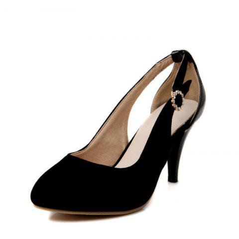 Single Pointed Shoes with High Heels and Sexy Hollows - BLACK EU 39