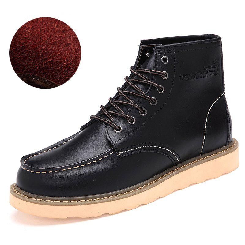 Image of Men'S Fashionable Leisure Cowhide Boots