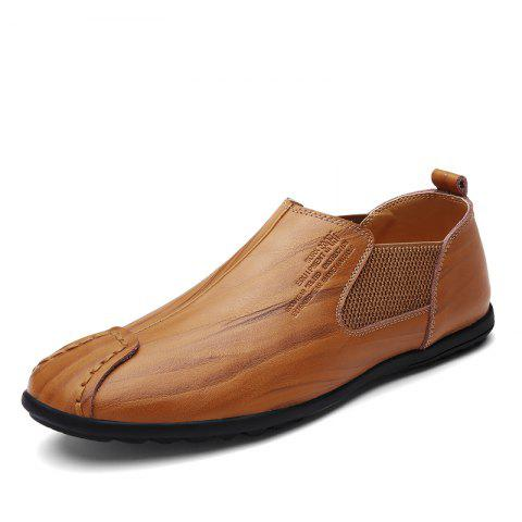 Cowhide Casual Leather Shoes - WOOD 43