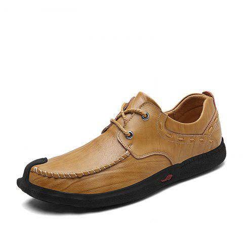 Comfortable and Heavy Soled Casual Shoes - CINNAMON 43