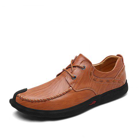 Comfortable and Heavy Soled Casual Shoes - SEPIA 42