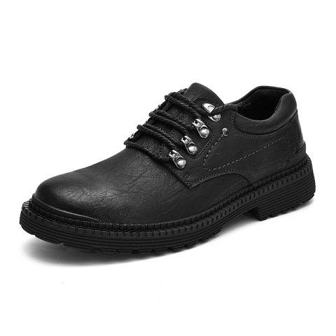 Warm and Fashionable Casual Shoes - BLACK 40