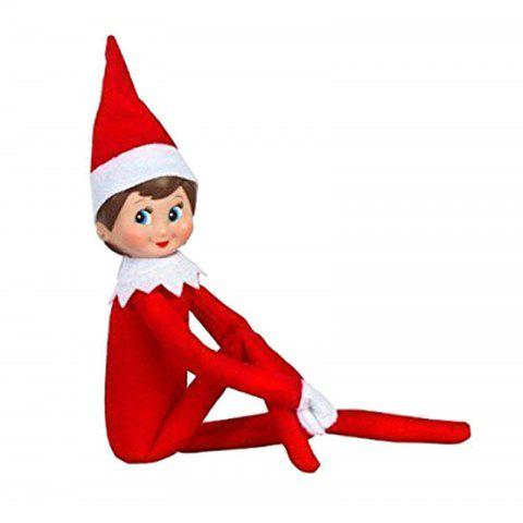 Elf Doll Plush Toy Multi Colors Christmas Gift for Kids - multicolor A