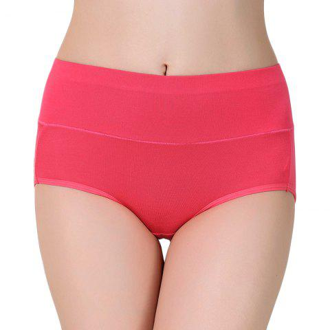 High Waist Modal Panties for women - ROSE RED ONE SIZE