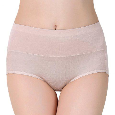 High Waist Modal Panties for women - BLANCHED ALMOND ONE SIZE