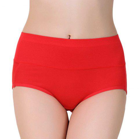 High Waist Modal Panties for women - RED ONE SIZE