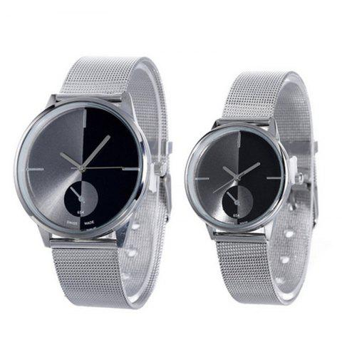 Fashion Netted Couple Watches - BLACK
