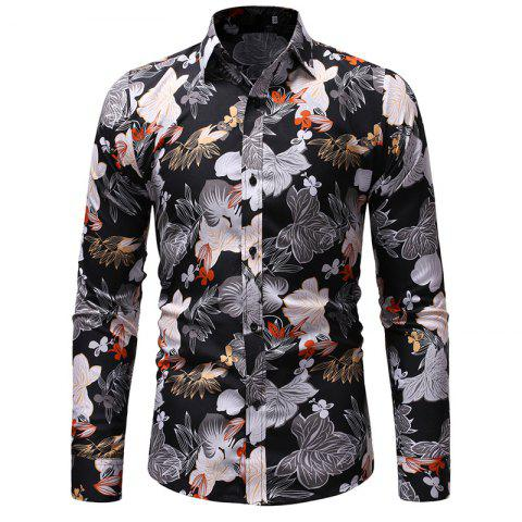 2be7a2960205 17% OFF] 2019 New Men's Casual Wear Long Sleeved Shirt Fashion Shirt ...