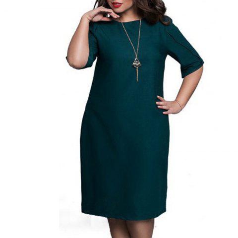Fashionable Loose Women Dresses Big Sizes NEW 2018 Plus Size Women Clothing - GREEN 2XL