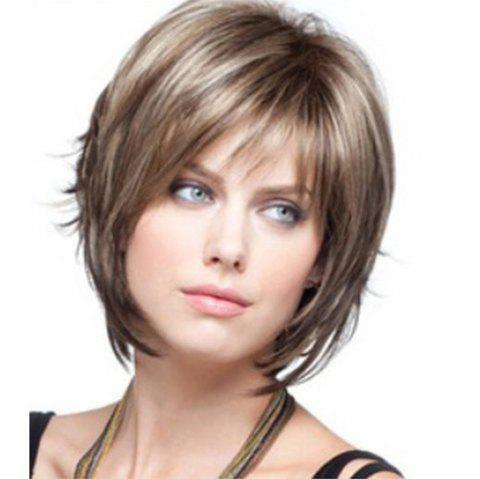 Women'S Hair Is Short and Curly WIG-020 - LIGHT BROWN