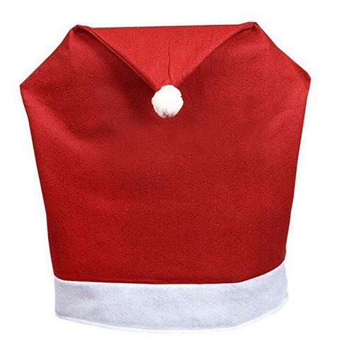 Santa Red Hat Chair Covers Christmas Decorations Dinner Chair Xmas Cap - RED
