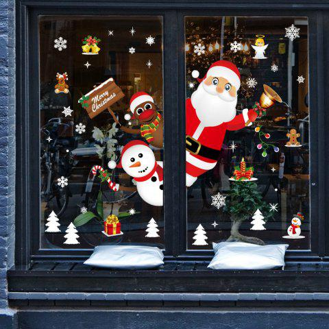 QSK10241 Christmas PVC Window Wall Sticker - multicolor