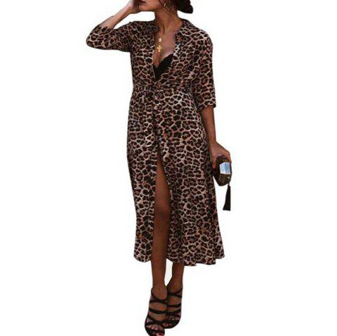 New Long Sleeve Blouse for Women - LEOPARD M