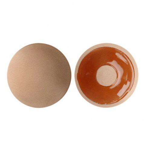 Invisible Silica Gel Anti Light Chest Sticker - CHAMPAGNE 1 PAIR