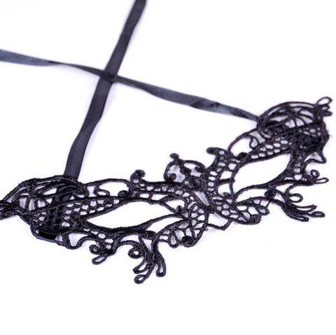 Sexy Women Black Lace Masquerade Mask Halloween Cosplay Carnaval Party Prop 10 - LUXURY CERAMIC