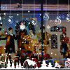 Christmas Snowflake Hut Snowman Glass Window Sticker Removes Wall Stickers - multicolor A 24 X 36 INCH