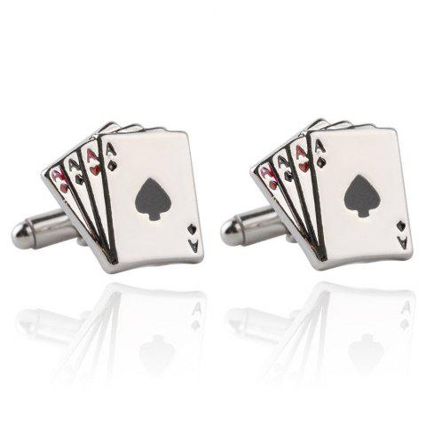 Personalized Men'S French Cufflinks - SILVER
