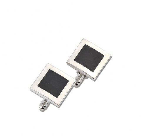 Square Drip French Shirt Cufflinks - SILVER
