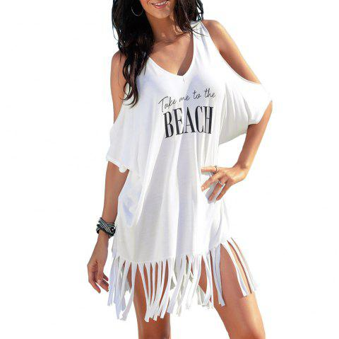 Tassel Printing Beach Group - Blanc ONE SIZE