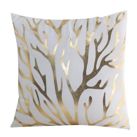 Selling Branches With Hot Stamping And Pillowcases - WHITE 45CM*45CM