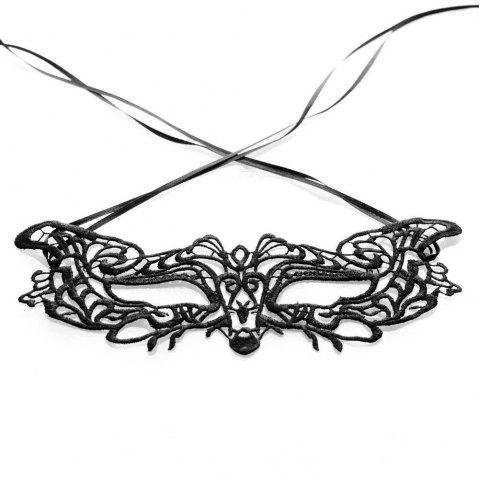 Sexy Women Black Lace Masquerade Mask Halloween Cosplay Carnaval Party Prop 23 - MIRROR BLACK