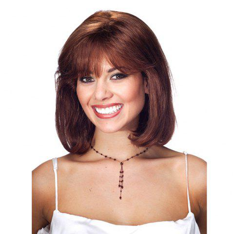 Stylish Ladies with Short Curly Hair WIG-200 - BROWN