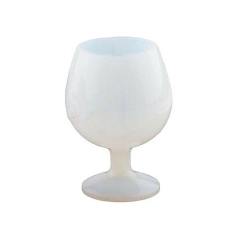 Creative Unbreakable Silicone Red Wine Glasses Goblet - WHITE