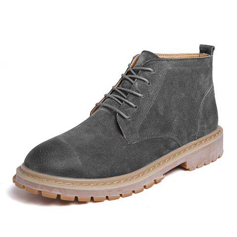 Mode 2018 Zhongbang Chaussures Casual pour hommes - Gris EU 44