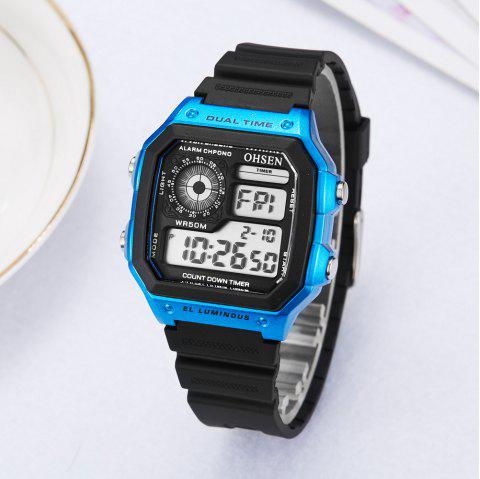 Multi-Function LED Electronic Watch - DEEP BLUE 1PC