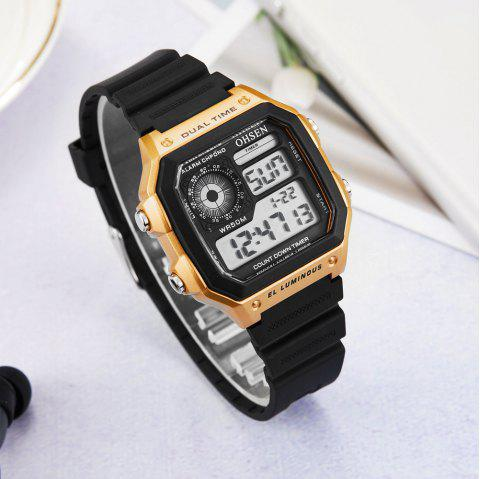 Multi-Function LED Electronic Watch - CHAMPAGNE GOLD 1PC
