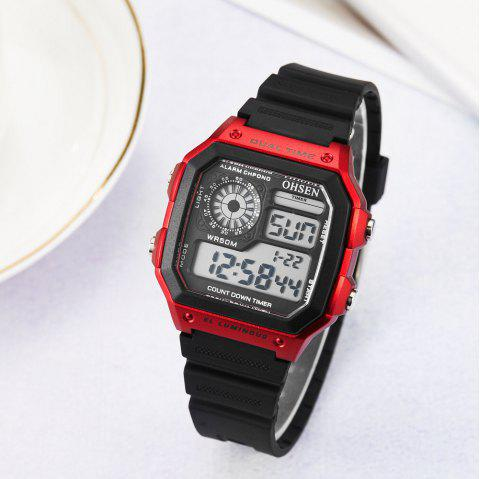 Multi-Function LED Electronic Watch - RED 1PC
