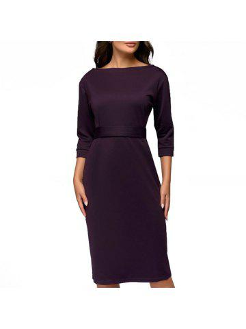 3d36476e05a4 2019 Long Sleeve Purple Bodycon Dress Online Store. Best Long Sleeve ...
