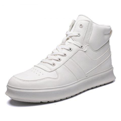 High-Top Shoes Men'S Sports Shoes British Wind Shoes - WHITE EU 41
