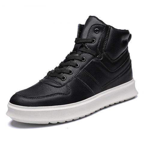 High-Top Shoes Men'S Sports Shoes British Wind Shoes - BLACK EU 42